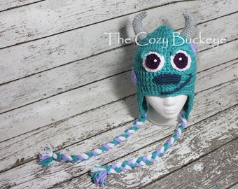 Instant Download Crochet Pattern - Sulley Hat - Monster's Inc Character Hat - Monster Hat - Halloween Costume