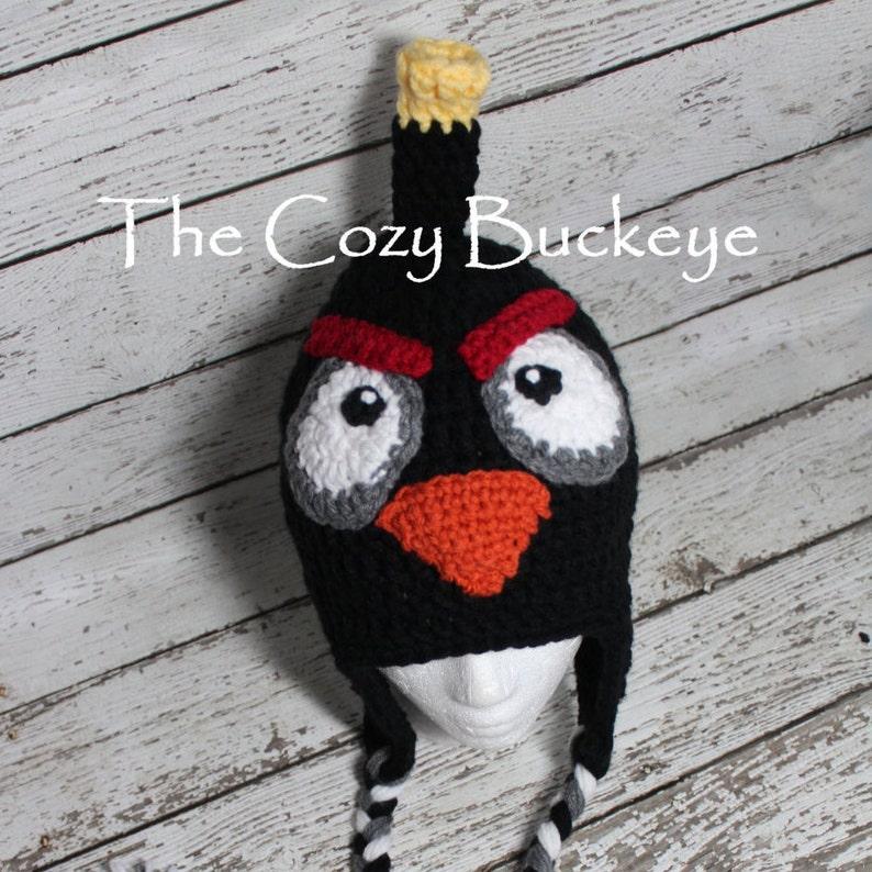 Black Bomb Bird Angry Bird Movie Character Hat Halloween Costume ... 290c2d80de3a