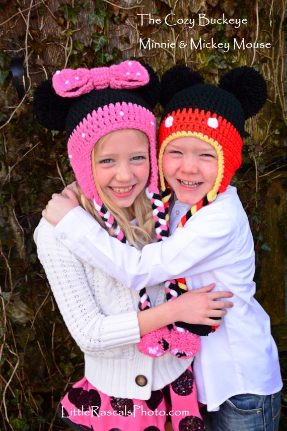 Instant Download Crochet Pattern Mickey Mouse Hat Minnie Etsy