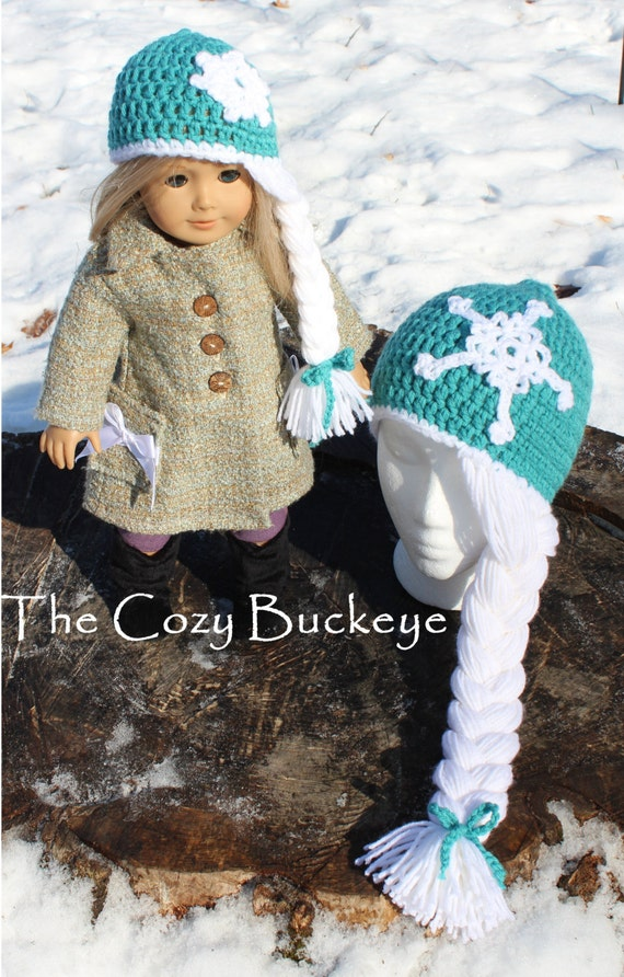 Instant Download Crochet Pattern Elsa Hat With Matching Doll Etsy