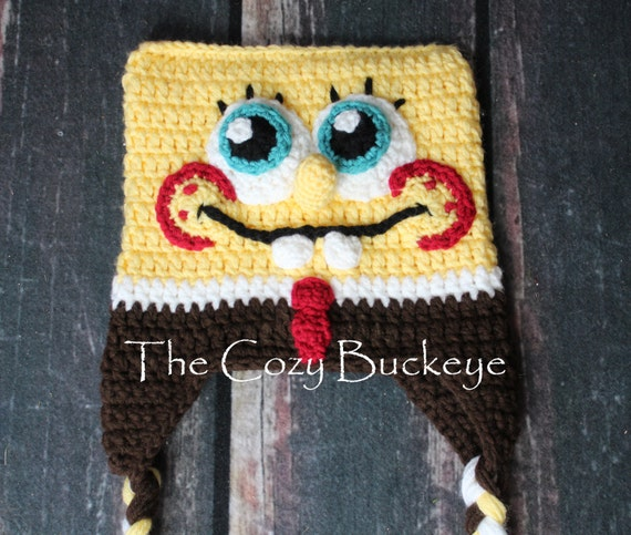 Spongebob Squarepants Character Hat Crochet Photography Prop Etsy