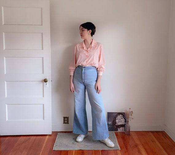 80s boxy cotton floral pastel Top blouse  shirt short sleevs XXL oversized 44