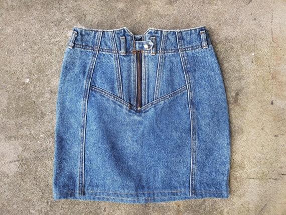 Vintage 80s 90s Jordache Cotton Denim Snap Zip Fro