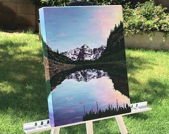 Custom Acrylic Landscape Painting by Christine Lezcano