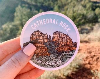 "Cathedral Rock - Sedona Arizona Sticker, 3"" Vinyl Sticker, Laptop or Water Bottle Decal, Waterproof and Dishwasher Safe"