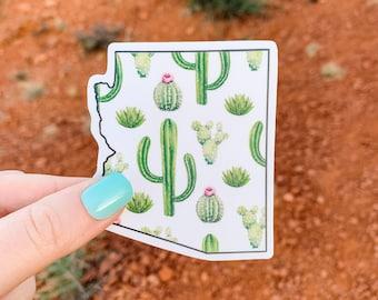 "Arizona Cacti 3"" Vinyl Sticker, Laptop or Water Bottle Decal, Waterproof and Dishwasher Safe"