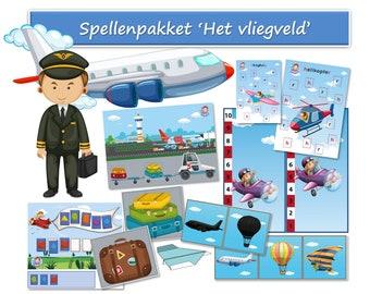 Kindergarten airport games
