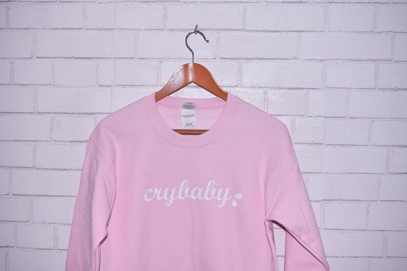 7cdd5c41dd29 Pink Crybaby Sweatshirt Soft Pink Cozy Cry Baby Sweater