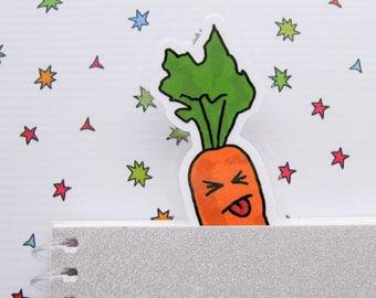 Carrot Bookmarker, Bookish Vegetable, Book Lovers Gift, Funny Gift, Reader Gift, Gift for Her, Gardening Lover