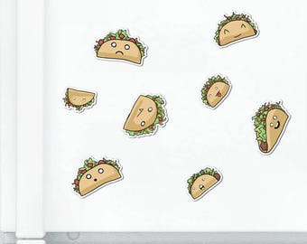 Cute Tacos Magnet Set Cute Magnet Taco Magnet Fridge Magnet Cubicle Decor Kawaii Magnet Food Loco Vinyl Magnet