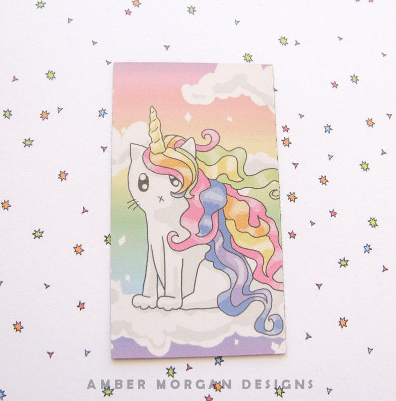 Cute Rainbow Cat Magnet Rainbow Unicorn Magnet Cute Magnet Cat image 0