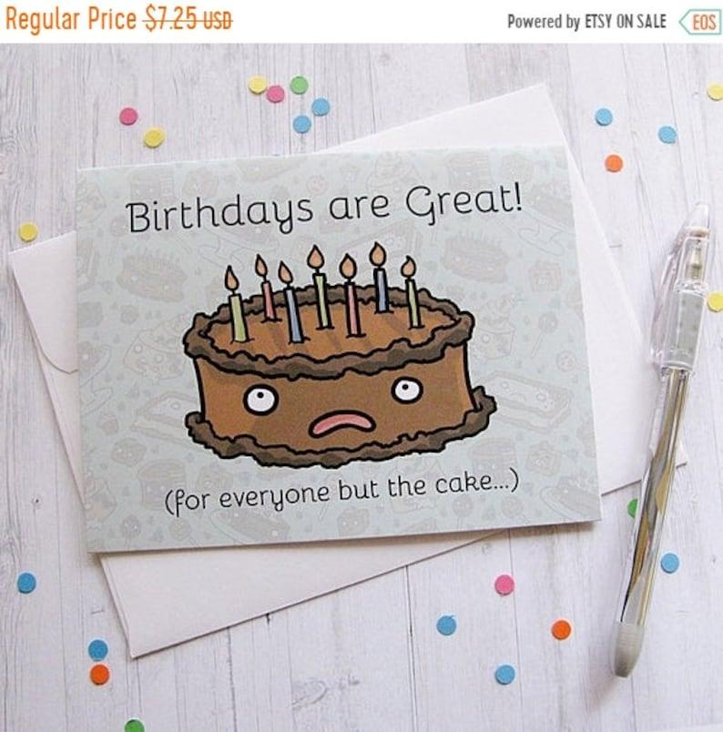 Astonishing On Sale Funny Birthday Card Birthday Cake Card Cute Greeting Etsy Personalised Birthday Cards Vishlily Jamesorg