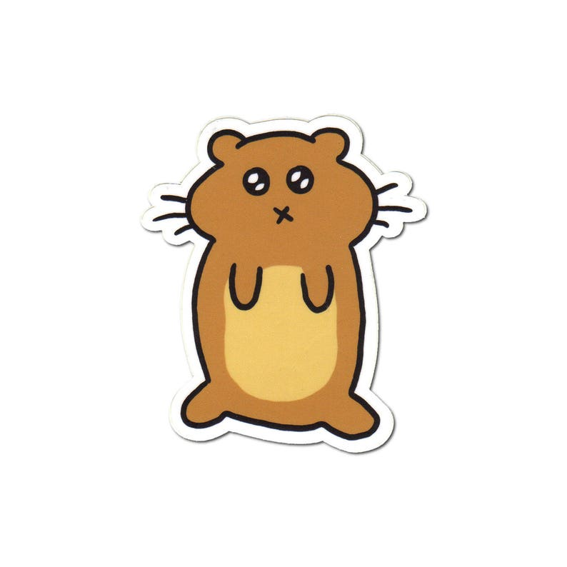 Hamster Sticker Laptop Sticker Car Sticker Bumper Sticker image 0