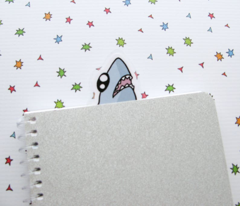 Shark Bookmarker Bookish Book Lovers Gift Funny Shark image 0