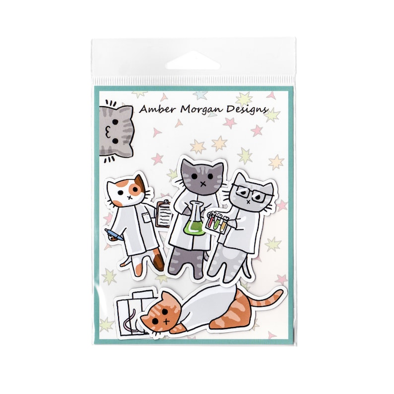 Cute Cat Magnet Set Refrigerator Magnets Cubicle Decor image 0