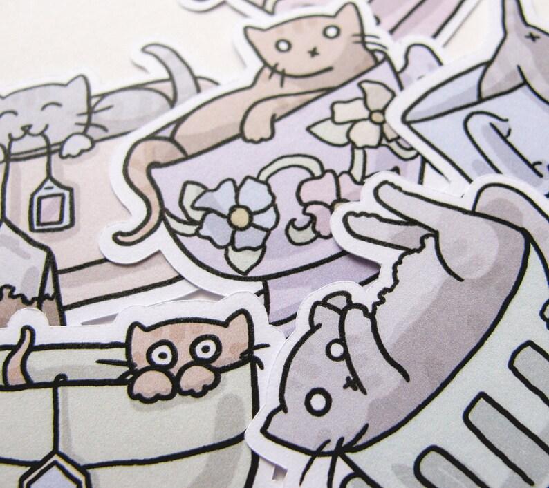 Cute Cat Stickers Playful Kitties Journaling Sticker image 0