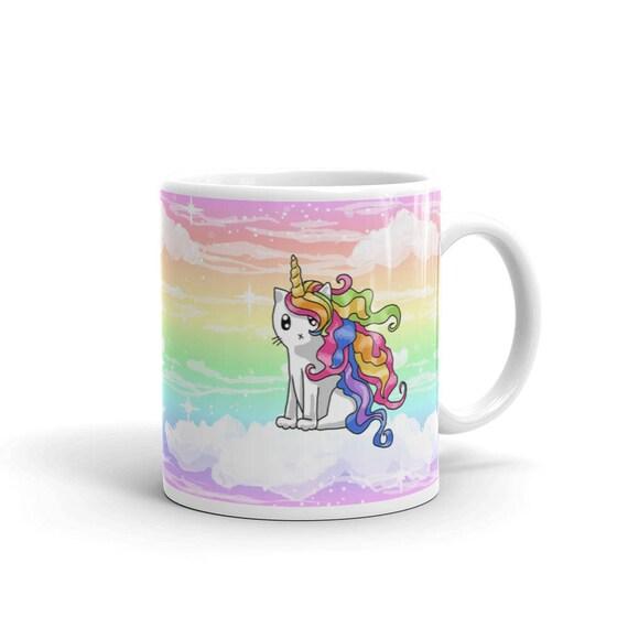 Cat Unicorn Funny Coco The Rainbow Caticorn Keyring Key Chain