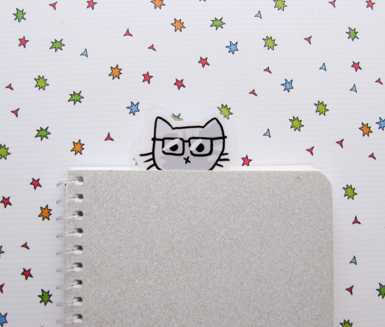 Kitty Bookmarker Bookish Scientist Cat Book Lovers Gift image 0