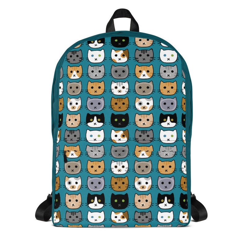 Cat Face Backpack Cat Breeds Cute Cats Kitty Faces Back to image 0