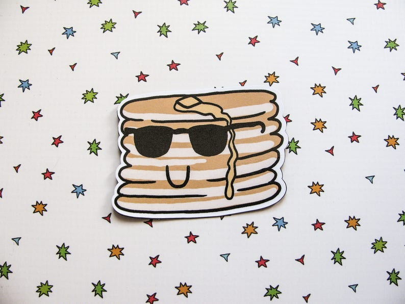 Cute Pancakes Magnet Refrigerator Magnet Pancakes with image 0