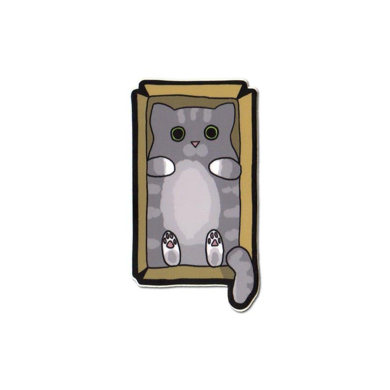 Cute Cat Sticker Laptop Sticker Car Sticker Bumper Sticker image 0