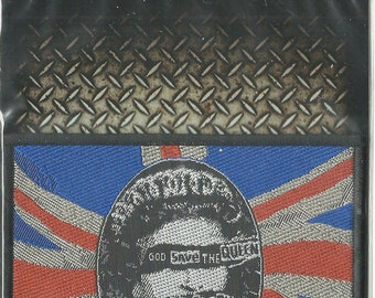 5a1172d3e9 SEX PISTOLS god save the queen OBLONG woven sew on patch 9.75 x 7.5  centimetres   3.75 x 3 inches - brand new sealed original packaging
