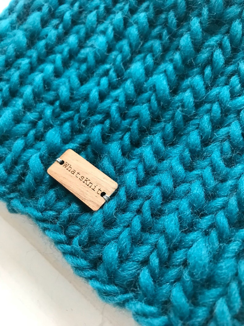 Hand Knit chunky wool petrol blue CAT ears beanie wirh tiny ears scull cap winter accessory gift