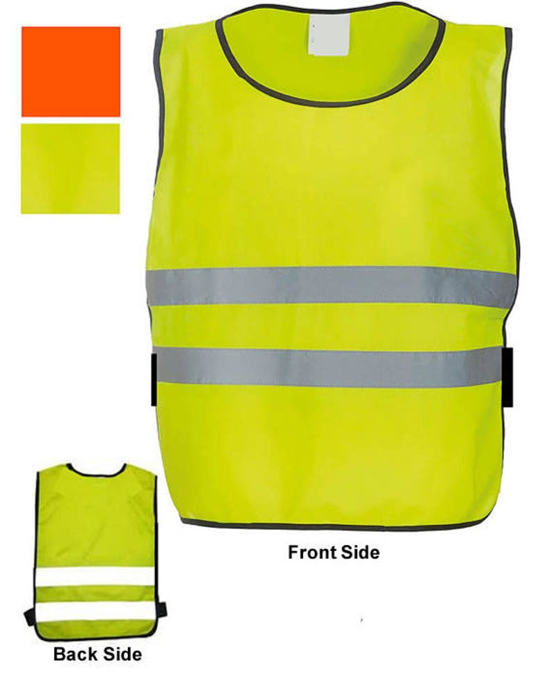 e6787851679d Child Baby Reflective Vest Tabard Apron Style HiViz Waistcoat