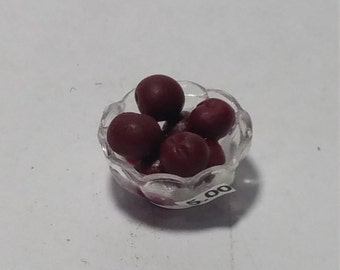 1:12 Scale Plums, Miniature Plums