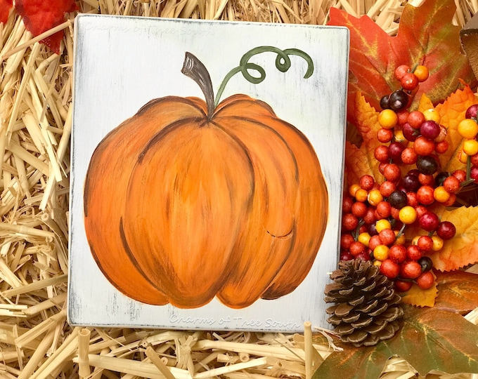 Mini Pumpkin Sign - Pumpkin Sign - Fall Sign - Autumn Sign - Thanksgiving Decor -Fall Decor - Rustic Sign