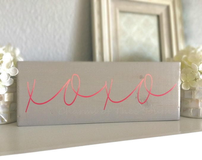 XOXO - Valentine's Day Sign - XOXO Sign - Ombré Sign - Photo Prop