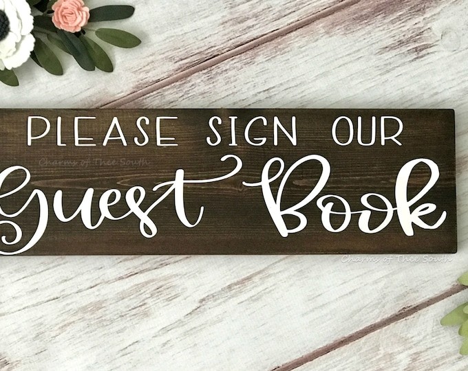 Please Sign Our Guestbook Wedding Sign - Cards and Gifts Sign - Wedding Signs - Wood Sign - Wedding Sign - Rustic Wedding Sign