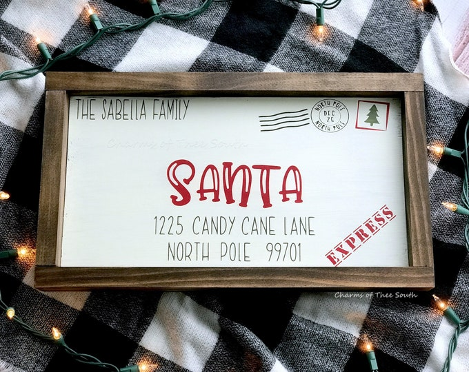 Santa Letter - Letter to Santa Wood Sign - Personalized Sign - Christmas Decor - Christmas Sign - Keepsake Letter To Santa