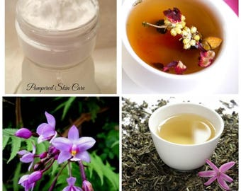 Wild Orchid and White Tea Body Butter - Intoxicating, Exotic, All Natural, Aloe Vera, Shea Butter, Coconut Oil