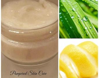 Lemongrass & Lemon Peel White Kaolin Clay Hair Treatment Mask - Lustrous Hair, Mineral Rich, Controls Dandruff, Vitamin C, Scalp Exfoliation