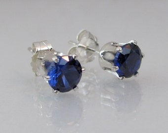 Lab grown sapphire | Etsy