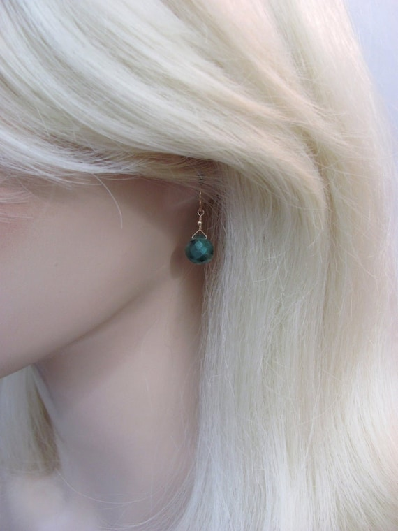 natural-emerald-earrings,-genuine-emerald-earrings-in-gold-and-silver,-may-birthstone-jewelry by etsy