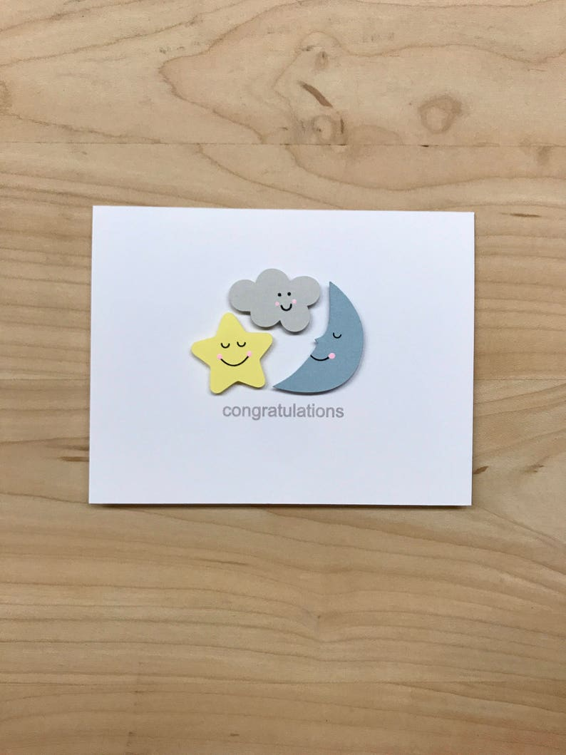 Baby Shower Congratulations Card Cute Baby Shower Card New Etsy