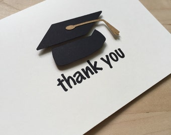 8 Graduation Thank You Cards, Graduation Party Thank You, Graduation Thank You Card Set