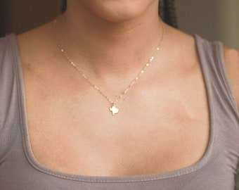 Texas Necklace, Texas Gift, Texas Jewelry, Texas State Necklace, Gold Texas Necklace, Texas Shaped Necklace, Texas Necklace Silver