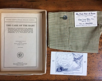 Antique Baby Boy Pants MarxMade Mark & Haus Clothing Co St. Louis MO Green Gold Houndstooth