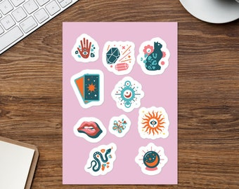 Stickers | Metaphysical Stickers | Feminist | Girl Power Stickers | Tarot Stickers | Cat Stickers