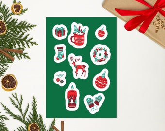 Stickers | Christmas Stickers | Stickers for Notebooks | Stocking Stickers