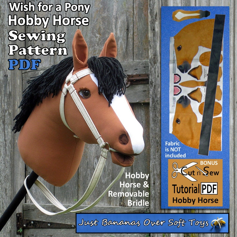 Sewing Pattern PDF Hobby Horse Wish for a Pony image 0
