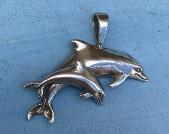 Sterling Silver Dolphin Pendant 5g
