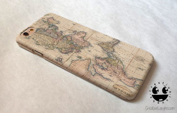 World Map Iphone 6s Case.World Map Iphone 8 Plus Case Iphone 8 Case Iphone 7 Case Etsy