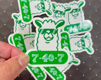 Drama Llama Sticker, theatre stickers, water bottle stickers, drama, vinyl decal, one act play, texas theatre
