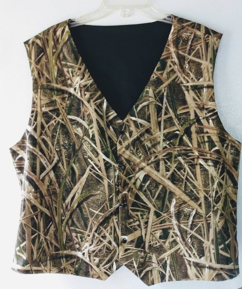 100a39206310f Boys and Men Vest Mossy Oak Shadow Grass Blade cotton shown | Etsy
