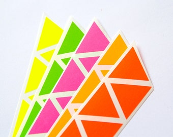 items similar to pink neon sticker triangle sticker paper label