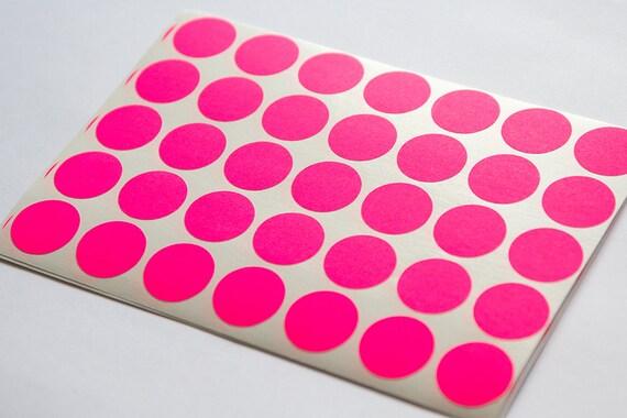 pink neon sticker circle sticker paper label round letter etsy